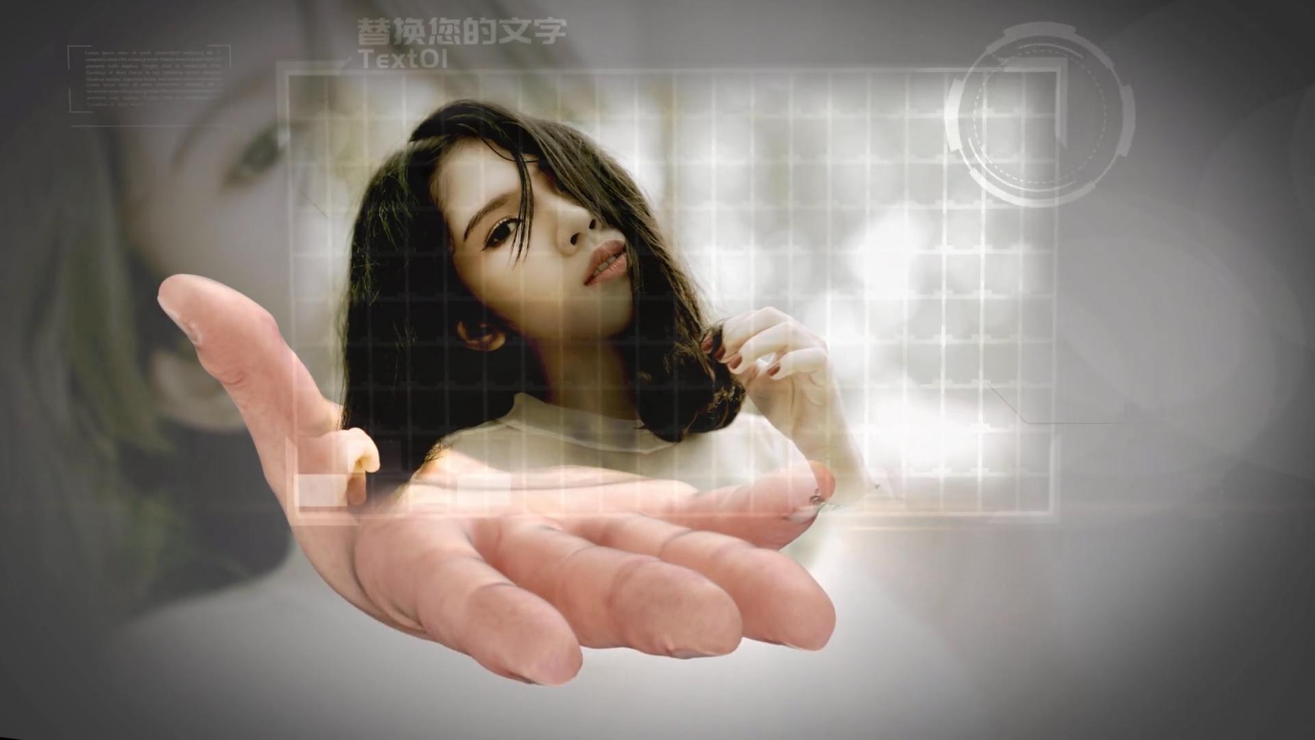 AE模版\-新版手掌企业科技图文互动掌上图片切换
