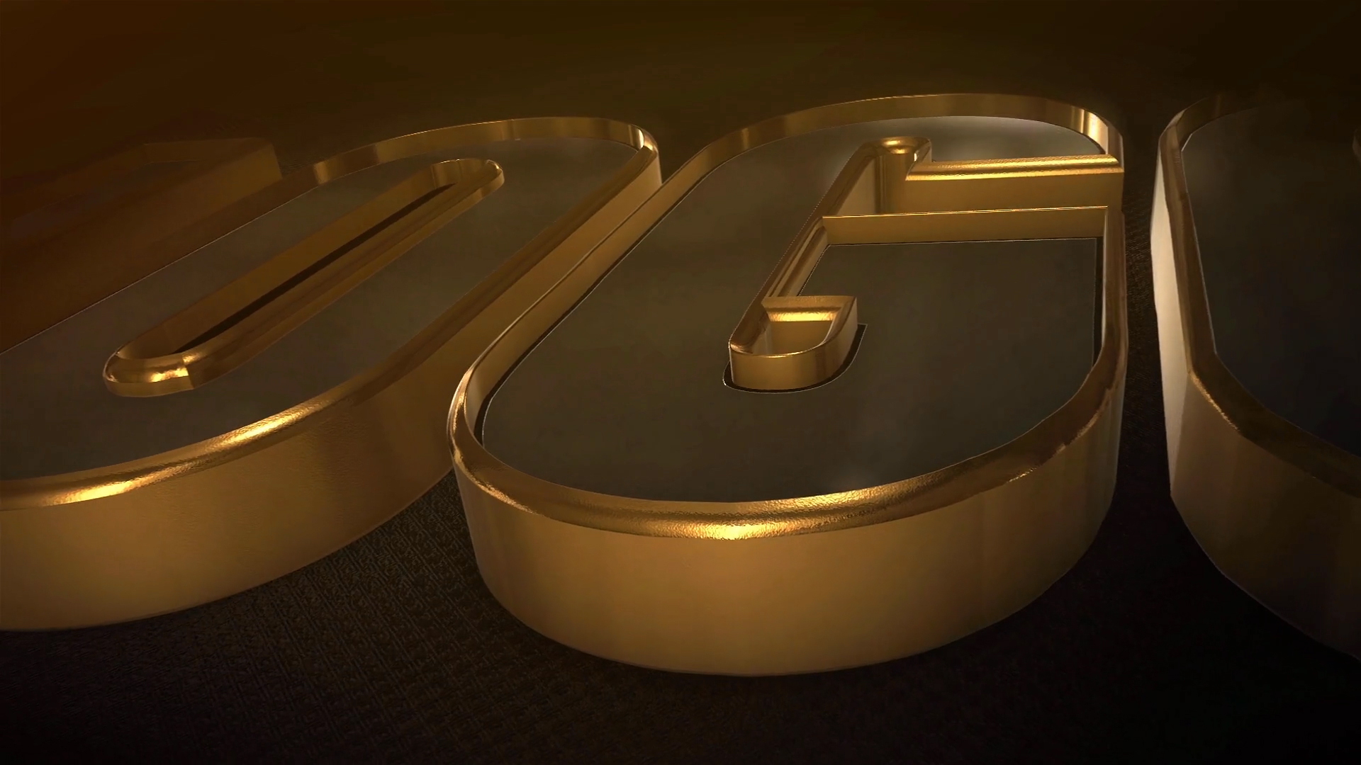 AE模版-3D金属质感纯金纯银三维文字标题LOGO