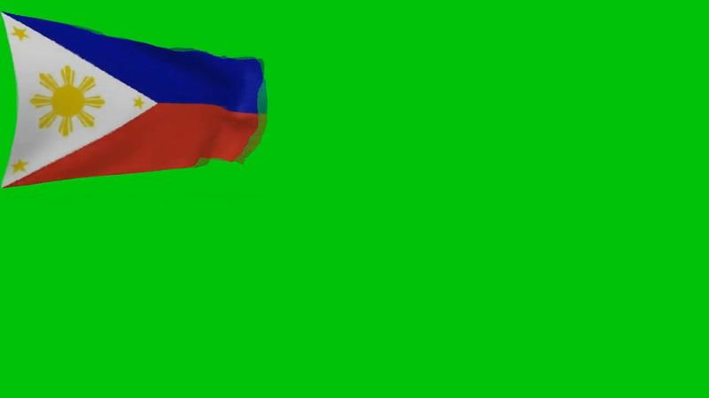 绿屏抠像菲律宾国旗
