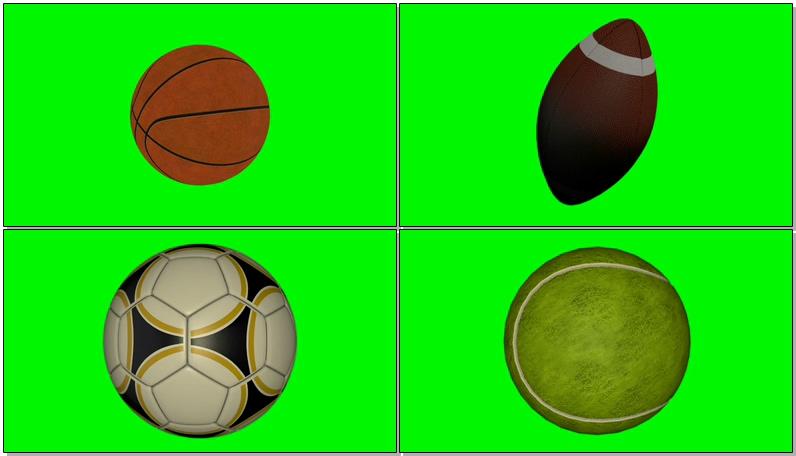 绿屏抠像各种体育球类