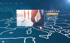 企业科技企业销售网络展示ae模板