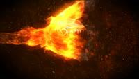 片头 logo展示 logo演绎 火焰logo 震撼logo展示 酷炫 文字 火焰 字母 燃烧的字体 黑色背景 火焰字