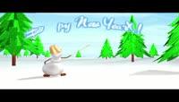 小雪人祝你2016新年快乐