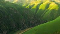甘肃河流峡谷山坡自然风光高清实拍视频素材