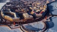 俄罗斯圣彼得堡冬季风光高清实拍视频素材