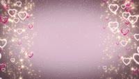 粉色心形掉落边框