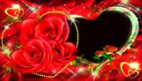 前景玫瑰花动态边框婚庆制作