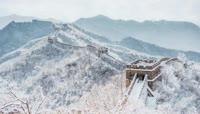 长城雪景LED舞台背景