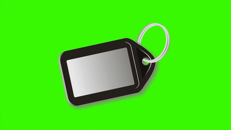 \[4K\]绿屏抠像标签钥匙扣