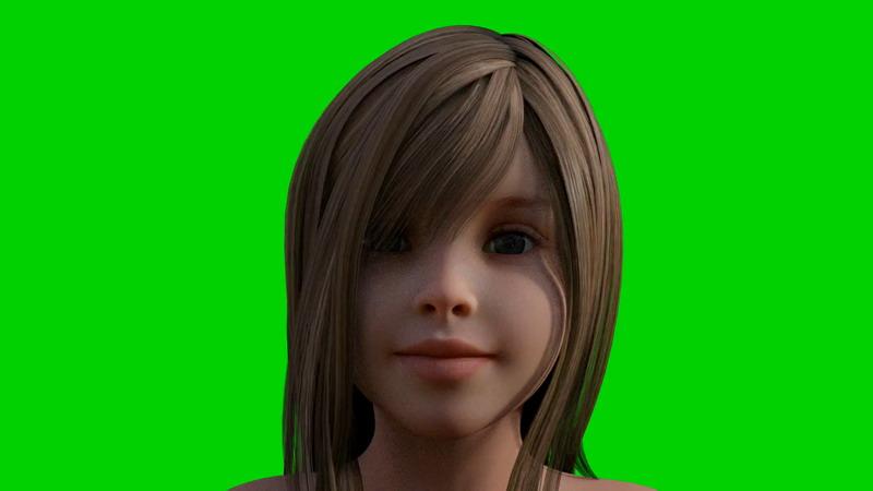 绿屏抠像说话的小女孩