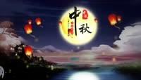 中秋月夜循环背景(仙鹤版)