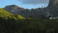 意大利巍峨壮观高山岩石自然风光