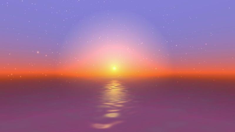 \[4K\]海面上升起的太阳