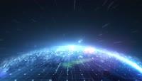 科技地球光线循环背景