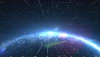 科技地球上下放射线循环背景