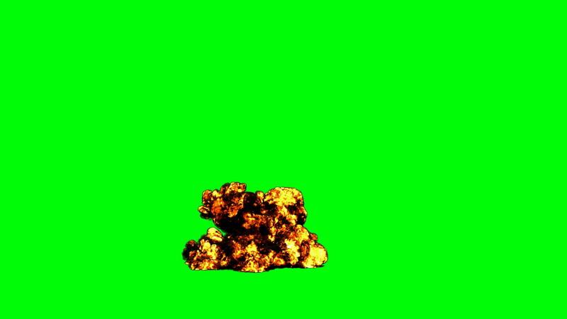 绿屏抠像爆炸黑烟