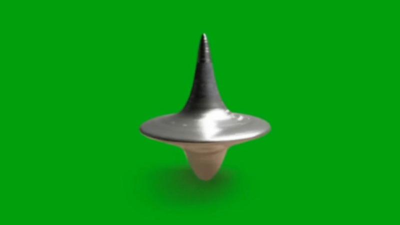 绿屏抠像旋转的陀螺