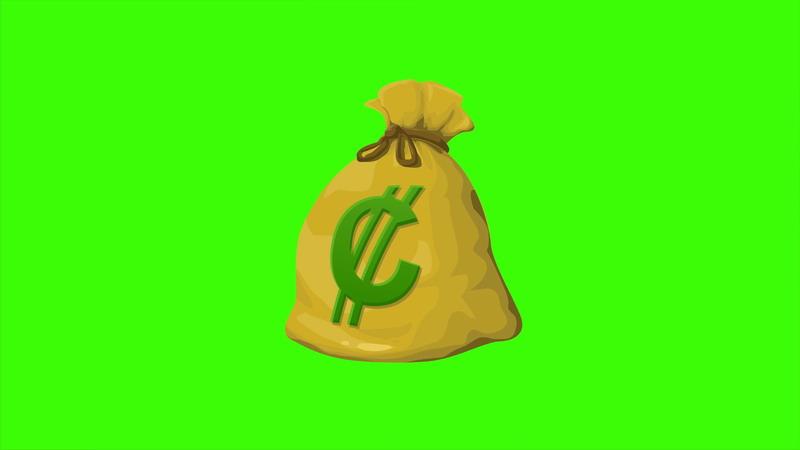 \[4K\]绿屏抠像卡通钱袋