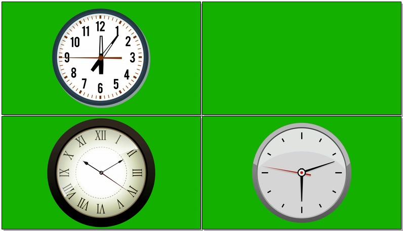 绿屏抠像各种钟表表盘