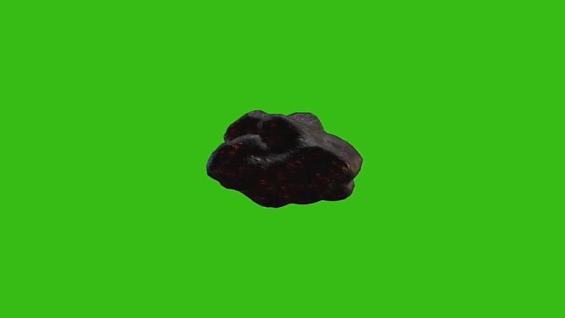 绿屏抠像飞行的陨石小行星