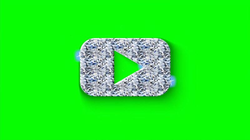 绿屏抠像石头质感视频播放标志