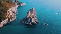 希腊海岛海岸线高清实拍视频素材