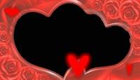 婚庆玫瑰相框