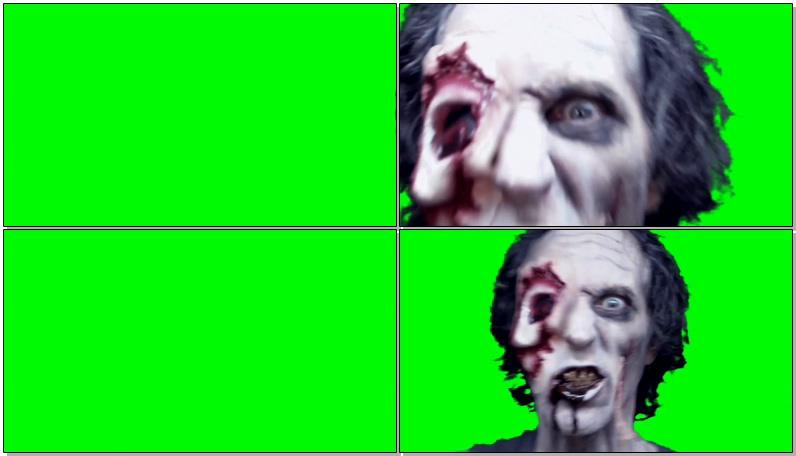 绿屏抠像恐怖的真人僵尸