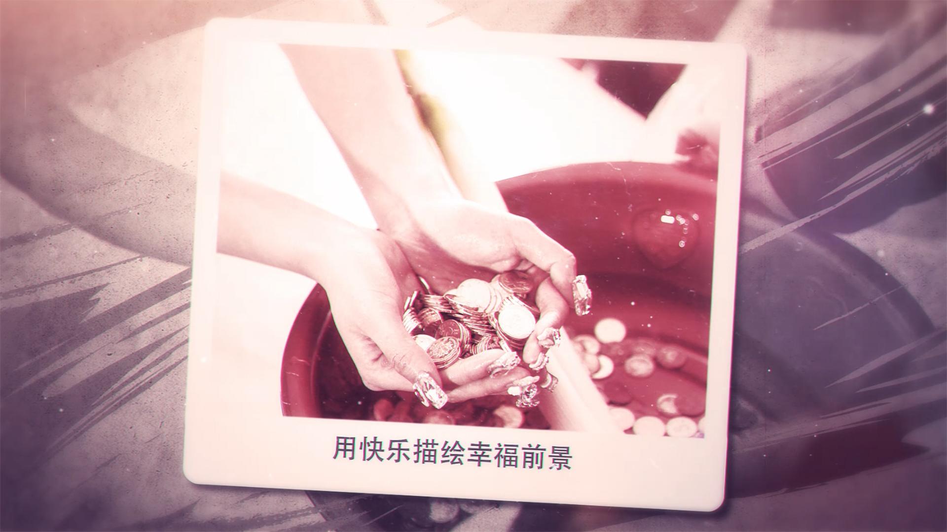 浪漫爱情婚礼相册AE模板