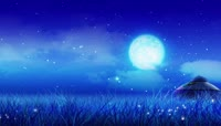 《梦中的额吉》歌曲蔚蓝星空草原蒙古包LED动态背景视频素材