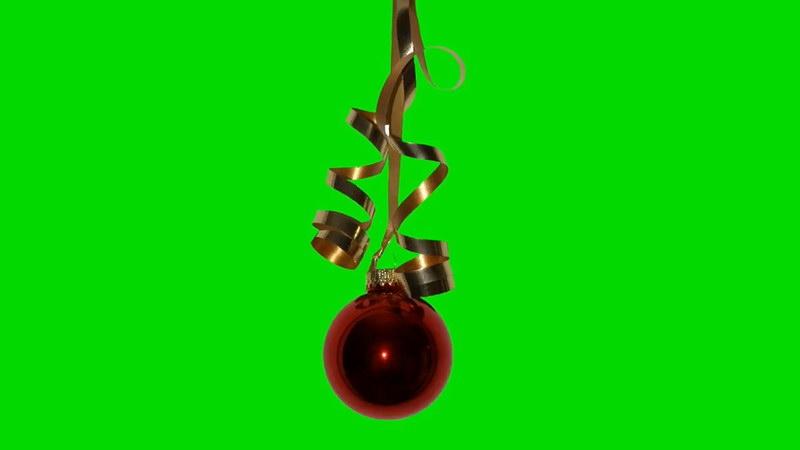 绿屏抠像圣诞节挂饰