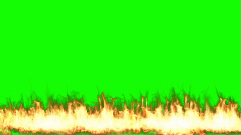 \[4K\]绿屏抠像燃烧的火线