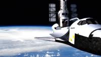 宇宙飞船 航天飞机 太空视频素材
