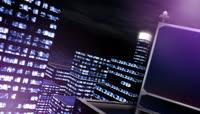 信息科技大楼顶部大屏幕 高清动态背景视频素材