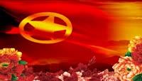 共青团红旗飘动视频素材