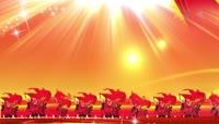 中国元素红黄背景