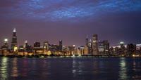 城市延时摄影芝加哥
