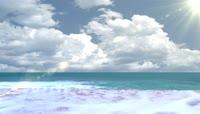 大海白云背景素材
