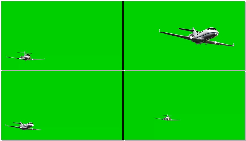 绿屏抠像私人喷气飞机
