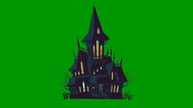 绿屏抠像卡通魔法城堡