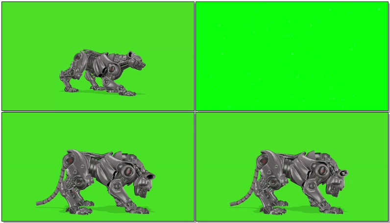 绿屏抠像机器豹