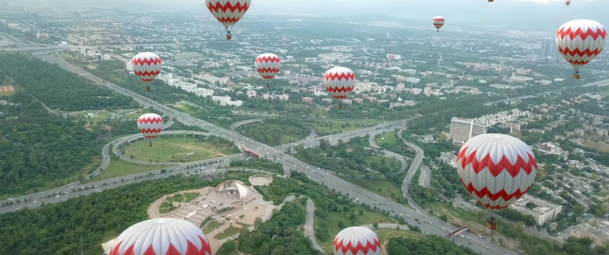 漂浮在空中的气球
