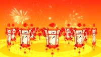 新春佳节灯笼LED背景视频