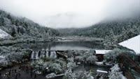 四川阿坝冬季美丽自然风光高清实拍视频素材