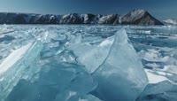 俄罗斯贝加尔湖冬季美丽雪景实拍视频素材