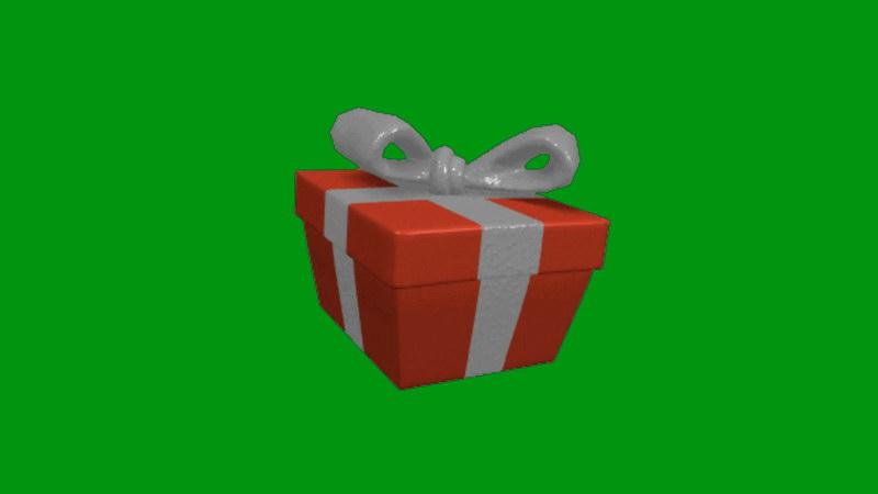 绿屏抠像跳动的礼品盒