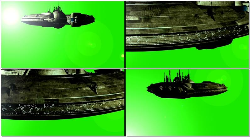 绿屏抠像大型UFO飞碟