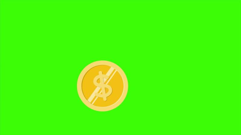 绿屏抠像金币钱币