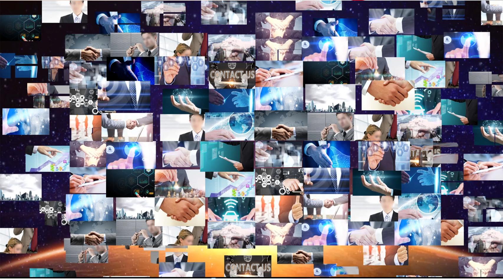 图片汇聚宣传片片头AE模板