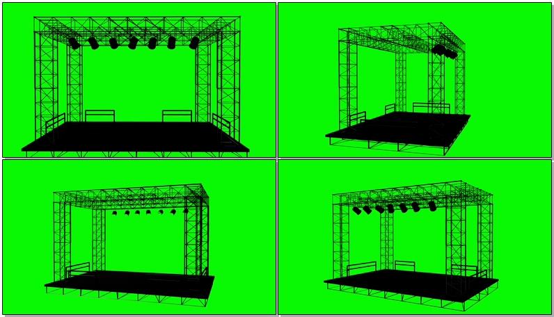绿屏抠像演出舞台